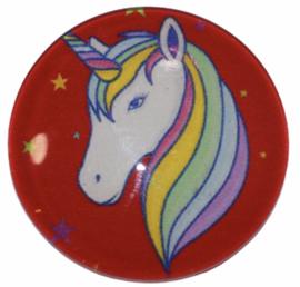 Glas cabochon 25mm: Unicorn