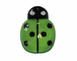 Flatback lieveheersbeestje klein groen 14x10mm