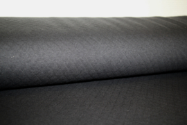 Tricot gestept: cotton diamond black (qjutie) per 25 cm