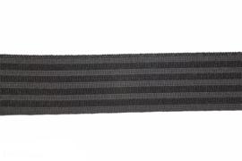 Soepel pyjama/boxershort elastiek zwart 30 mm breed: per meter