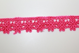 Ets kant 20 mm breed roze per 0,5 meter