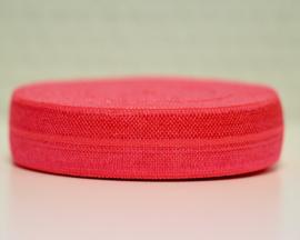 Elastisch band neon donkeroranje/roze 16 mm per 0,5 meter