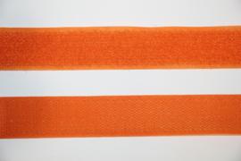 Klittenband 25 mm oranje per 0,5 meter
