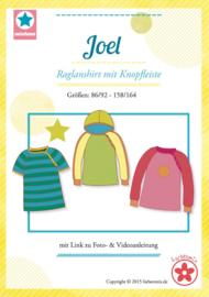 Farbenmix naaipatroon Joel raglanshirt jongens/meisjes 86/92-158/164