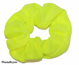 Scrunchie neon-geel