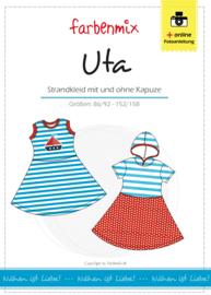 Farbenmix papier patroon jurkje Uta  86/92 -152/158