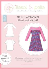 Lillesol & Pelle girl combi jurk/shirt maat 80-164