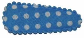 kniphoesje katoen blauw met witte stip 3 cm