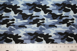 Katoen: camouflageprint blauw (Stenzo), per 25cm