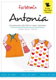 Farbenmix papier patroon Antonia  86/92- 158/164