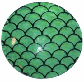 Glas cabochon 25mm: reptile skin