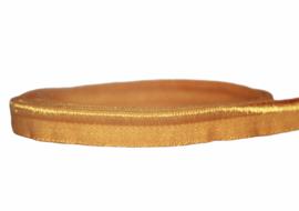 Elastisch paspelband glans/mat corn, per 0,5 meter
