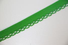 Biaisband met kant groen per meter