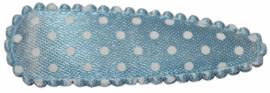 kniphoesje satijn lichtblauw met witte stip 5 cm