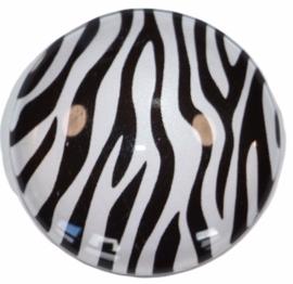 Glas cabochon 25mm: zebraprint