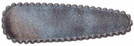 kniphoesje satijn effen zilvergrijs 5 cm