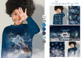 Panel digitale French terry tricot: 3 luik, SPOOKY 75x150 cm Stenzo