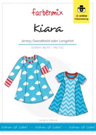 Farbenmix papier patroon Kiara jurk 86/92 - 146/152
