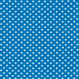 Tricot blauw met witte stippen 1 cm per 25cm