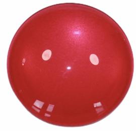 Glascabochon 20mm roze-rood