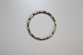 Metalen keyring 25 mm zilverkleur