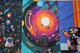 Panel digitale French terry tricot: 3 luik, SPACE 75x150 cm Stenzo