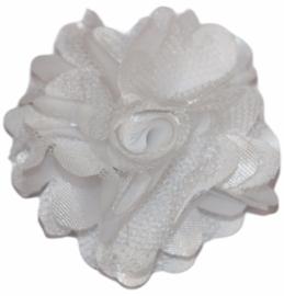 Tule bloem 5 cm wit