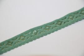 Elastische biaisband jacquard met schulprandje oudgroen 10mm per 0,5 meter