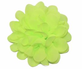 Stoffen bloem 10 cm knalgeel