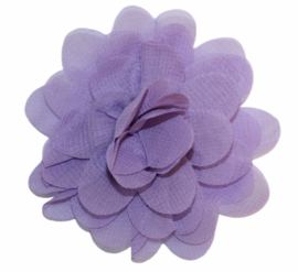 Stoffen bloem 7 cm lila