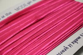 Elastisch paspelband glans/mat fuchsia per meter