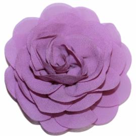 Stoffen bloem 8 cm lavendel