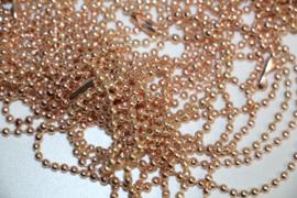 Rose gold bolletjes ketting 70 cm 2,4mm
