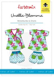 Farbenmix papier patroon tuniek & short Unella-Blomma  86/92 -158/164