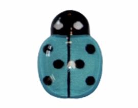 Flatback lieveheersbeestje klein blauw 14x10 mm