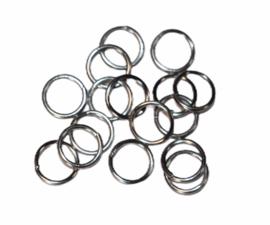 Ringetjes 7 mm met opening RVS, per 10 stuks
