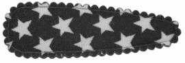 kniphoesje katoen zwart met witte sterren 5 cm
