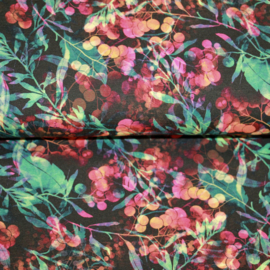 Tricot digitale print : twigs & berries (Stenzo) per 25 cm