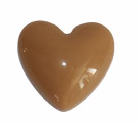 Flatback: retro hart mosterdgeel 17x18 mm, per stuk