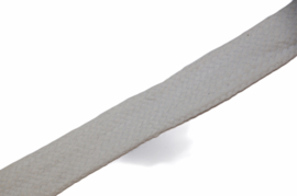 Koord plat 20mm wit, per meter
