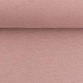 Boordstof: licht-oudroze (Swafing kleur 435 herfst/winter 21-22) Rondgebreid 48 cm. Per 25 cm
