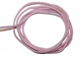mondkapje elastiek  lichtroze rond 3mm, per meter