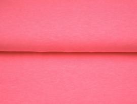 Neon roze tricot gemeleerd, per 25 cm