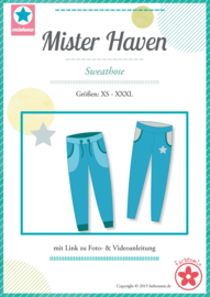 Farbenmix naaipatroon Mister Haven heren joggingbroek XS-XXXL