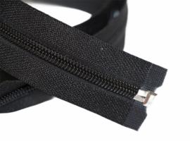 Deelbare nylon zwarte rits 5mm, 70 cm