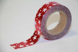 Masking tape stars red white shiny!