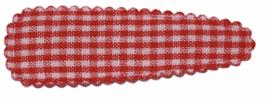 kniphoesje katoen rood wit boerenbont 5 cm