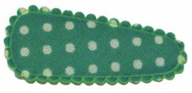kniphoesje katoen turkoois met witte stip 3 cm