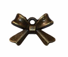 Strikje 15x10 mm bronskleur, per stuk