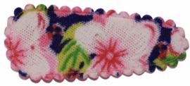 kniphoesje met zomerse bloem roze 3 cm